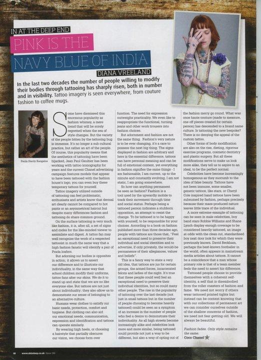 Paula Hardy Kangelos Skin Deep Magazine